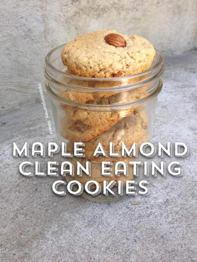 Maple Almond Clean Eating Cookies